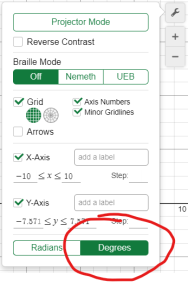 Desmos Degree Mode